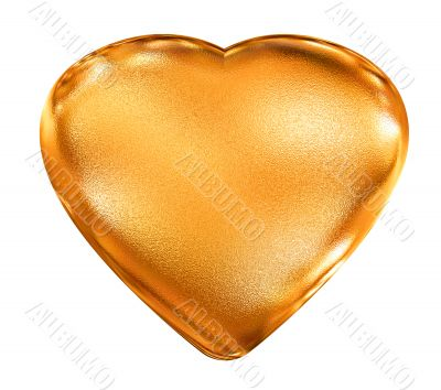 Golden pattern 3d heart - valentine`s love symbol
