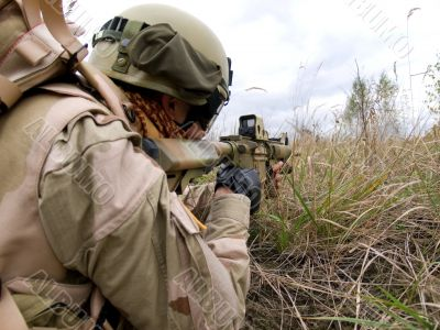 US Marine In Action