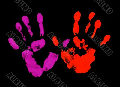 Violet and red fingerprint