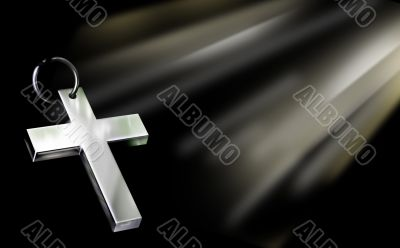 Cross and a light
