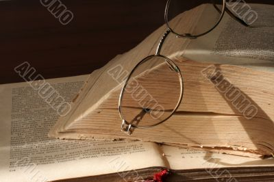 book and spectacles