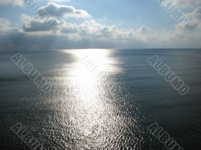 Sunlight path on a sea surface