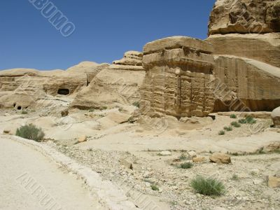 Vessel of genie in Petra