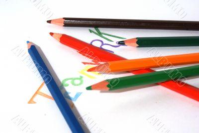 Pencil teamwork concept