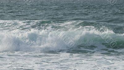 heavy sea near the rock, the Atlantic Ocean