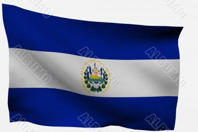 salvador 3d flag