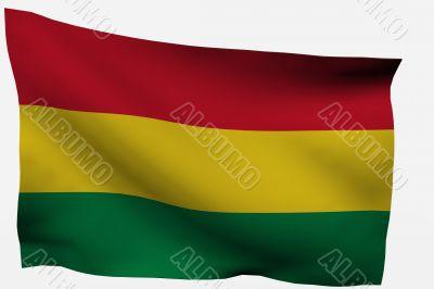 bolivia 3D flag