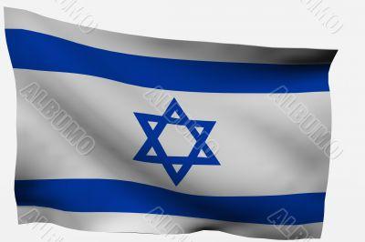 Israel 3d flag