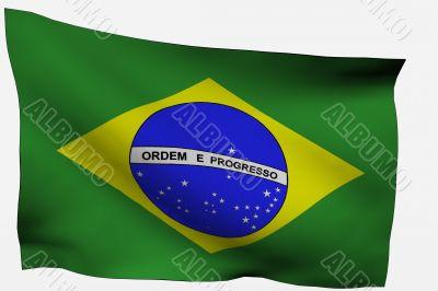 Brazil 3D Flag