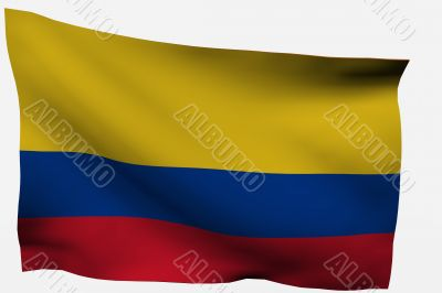 Colombia 3D flag