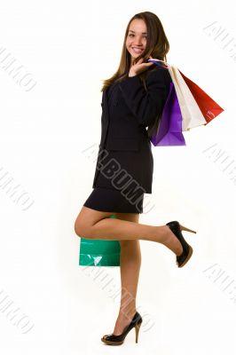 Happy business shopper