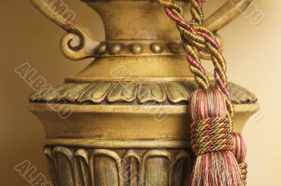 Lamp on Table with Tassel