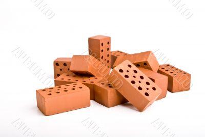 bricks on white