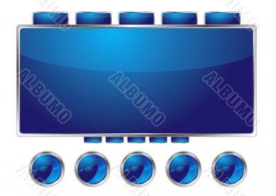 blue interface