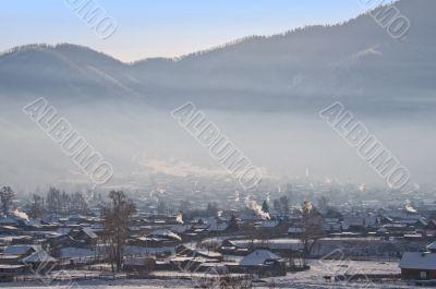 Winter morning in village Ongudaj.
