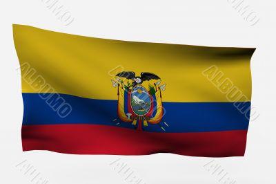 Ecuador 3d flag