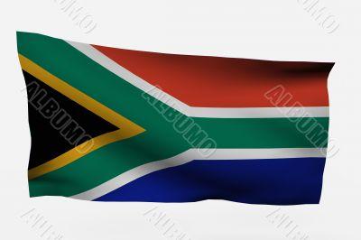 South Africa 3d flag