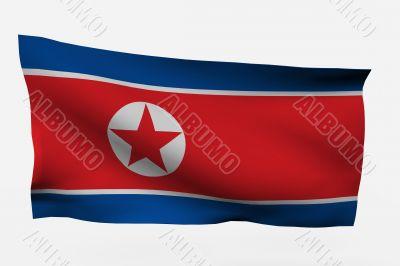 North Korea 3d flag