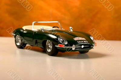 Model vintage car