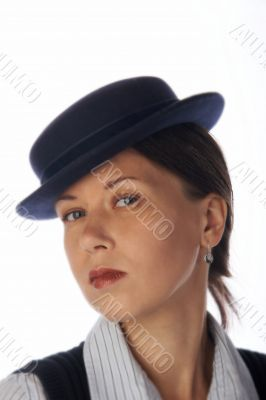 Woman in 30`s style hat