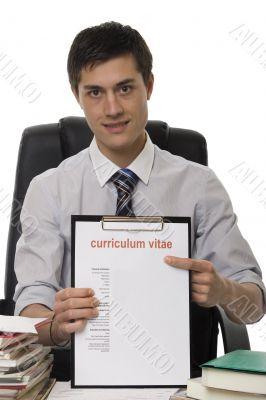 CV for application job