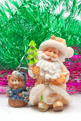 Clay Santa Claus and bear