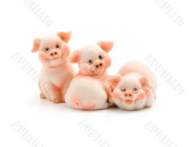 Three funny piggie