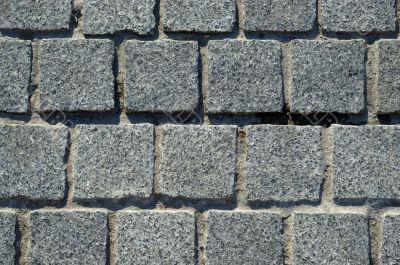 Granite block pavement background