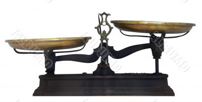 Antique metal table scales