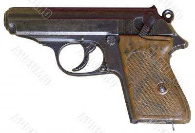 rusty obsolete vintage personal pistol