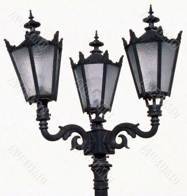 isolated vintage urban street lantern