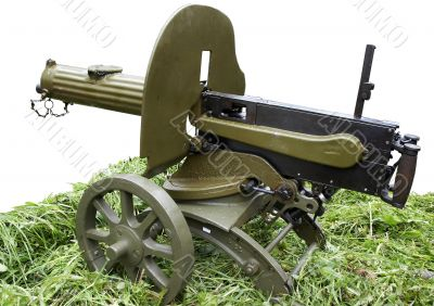 Isolated self-powered Maxim machine gun