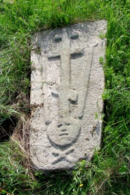 Ancient tombstone of earlier Slavic christians