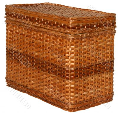 handmade wicker chest box