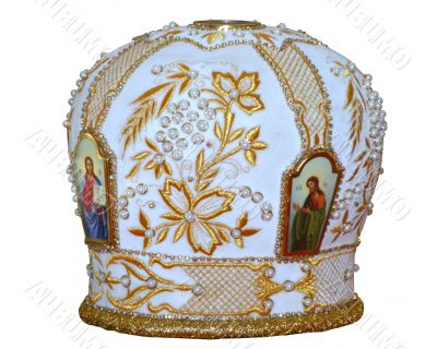 solemn headgear of the orthodox bishop