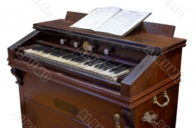 antique reed-organ or clavier