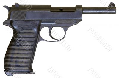 isolated r vintage personal pistol