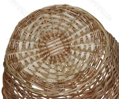 bottom of wicker basket