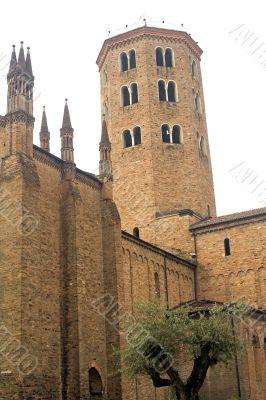 Belfry of ancient church