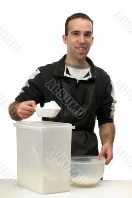 Man Measuring Flour