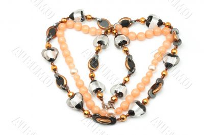 Two necklaces as heart