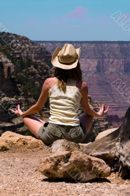 Meditating at Grand Canyon