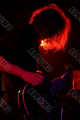 Rock-guitarist on live concert