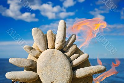 Fire and the stone sun