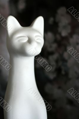 cat from porcelain