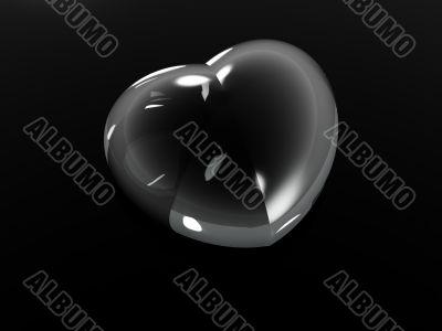 drop as valentine heart shape