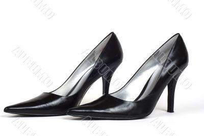 Pair of Black Women`s High-Heel Shoes