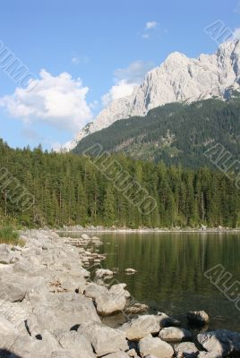 Zugspitze-massif and Eibsee