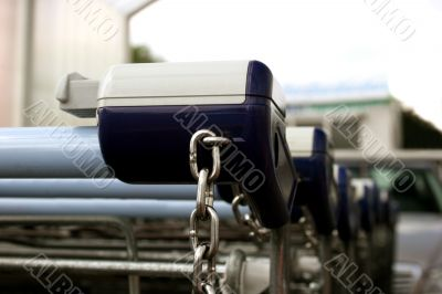 Shopping carts with deposit box