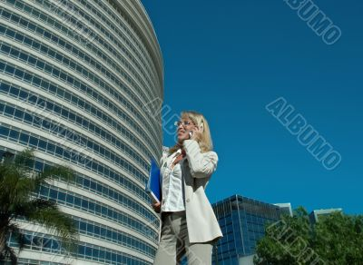business woman speak on the phone